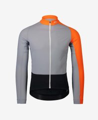Велоджерси POC Essential Road Mid LS Jersey Grey Granite/Zink Orange, M