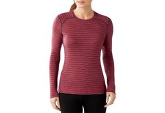 Термофутболка Smartwool women's Merino 250 Base Layer Pattern Crew XS, Aubergine Heather (765)