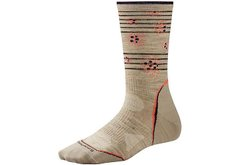 Термошкарпетки Smartwool women's PhD Outdoor Ultra Light Pattern Crew Socks Oatmeal (507), S (34-37)