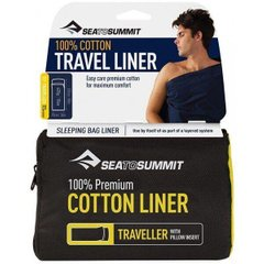 Вкладиш в спальник Sea to Summit Cotton Liner Traveller Sea Foam, (STS AYHAOSSF)