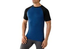 Термофутболка Smartwool men's Merino 150 Baselayer Pattern Short Sleeve Bright Blue (378), S